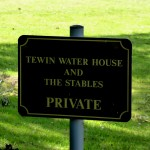 Tewin Water House and Stables Sign